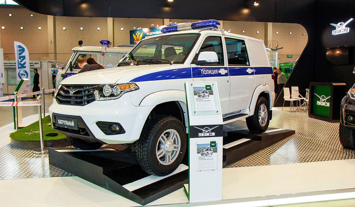 Спецавтомобили УАЗ на выставке «Интерполитех-2015»