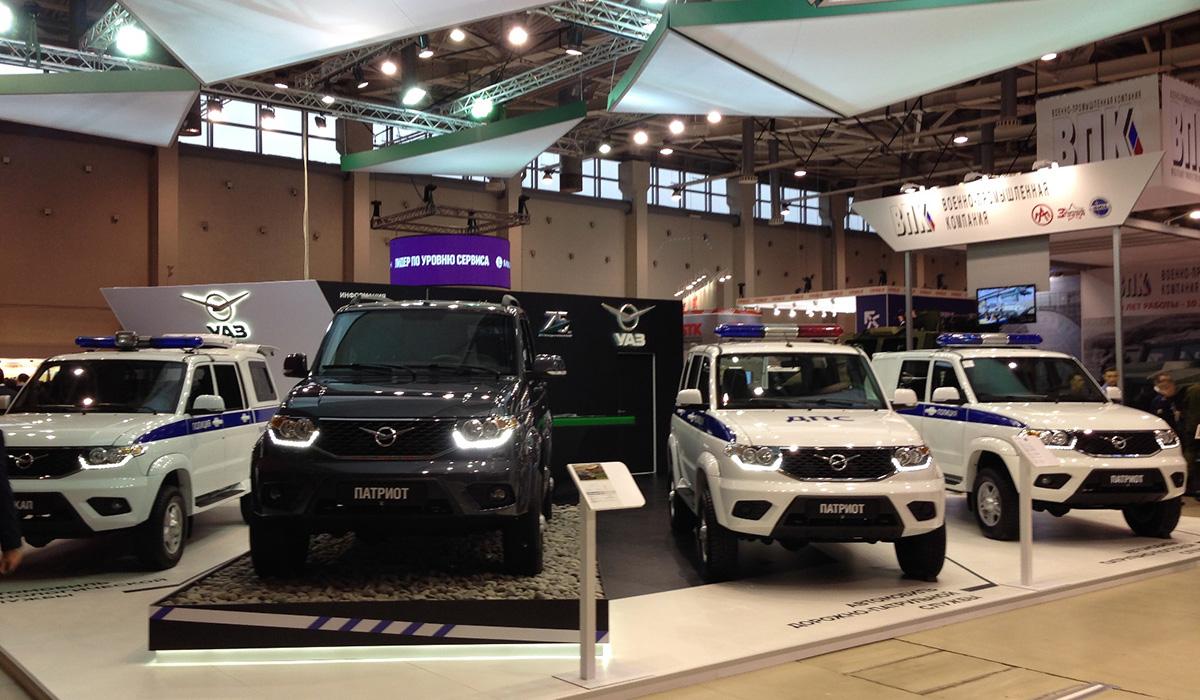 Спецавтомобили УАЗ на выставке «Интерполитех-2016»