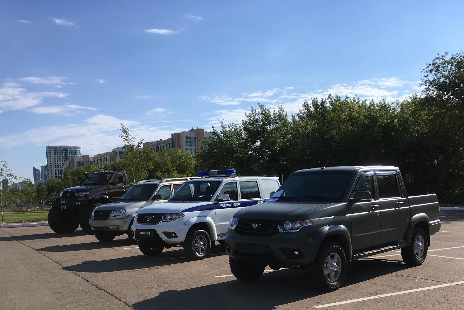 В Астане прошел показ спецтехники на базе внедорожников УАЗ