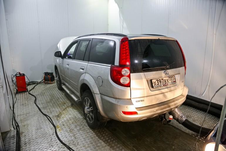 Заморозка автомобиля до стартового порога в –27 °C занимает около 12 часов..